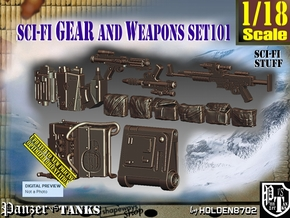 1/18 Sci-Fi Gear and weapons Set101 in Smooth Fine Detail Plastic