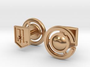 Cyborg cufflinks in Polished Bronze