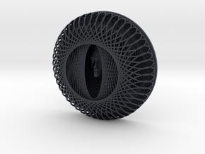 Enneper Flower Curve Art + Nefertiti (001a) in Black Professional Plastic