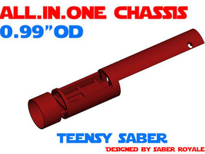 "ALL.IN.ONE - 0.99""OD - Teensy Saber in White Natural Versatile Plastic"