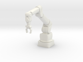 1:18 Scale Robotic Manipulator Arm NON-ARTICULATED in White Natural Versatile Plastic