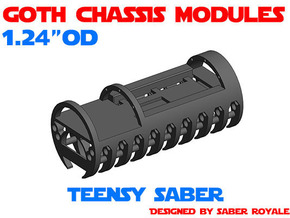 GCM124 - Teensy Saber + 18650 in White Natural Versatile Plastic