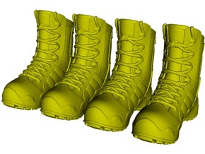 1/16 scale military boot C pairs x 2 in Smooth Fine Detail Plastic