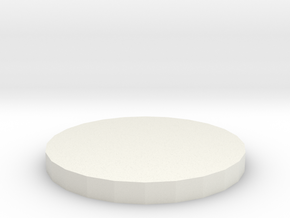 "1"" Circular Miniature Base Plate in White Natural Versatile Plastic"