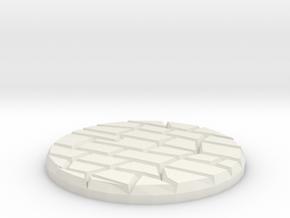 "Dungeon Floor 1"" Circular Miniature Base Plate in White Natural Versatile Plastic"
