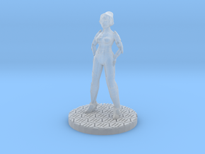 Female Starfarer Miniature (28mm Scale) in Smooth Fine Detail Plastic