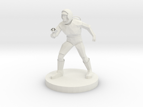 Astronaut with Laser Rifle in White Natural Versatile Plastic