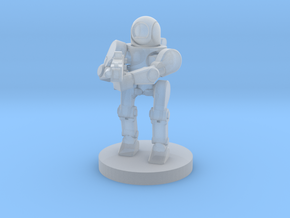 Rifle Sentry Robot (28mm Scale) in Smooth Fine Detail Plastic