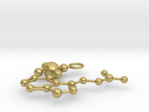Psilocybin Molecule (large) in Natural Brass
