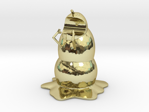 Mutan Man-eating Snowman Pen Holder in 18K Gold Plated