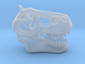 T-Rex Skull Pendant in Smooth Fine Detail Plastic