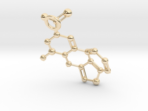 LSA molecule (Large) in 14K Yellow Gold