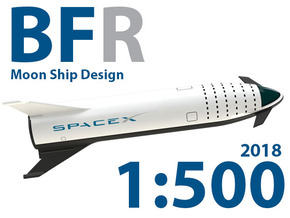 BFR Moon Mission 2018 in White Natural Versatile Plastic