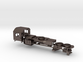 Z Scale GP38 Parts in Polished Bronzed Silver Steel