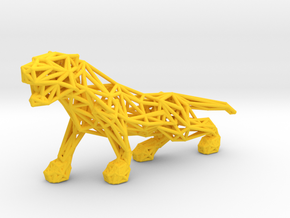 Tiger in Yellow Processed Versatile Plastic