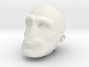 Morph One:12 Head #2 in White Natural Versatile Plastic: 1:12