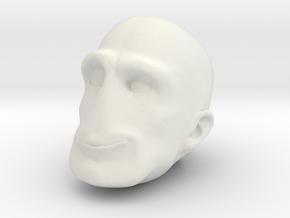 Morph One:12 Head #2 in White Natural Versatile Plastic: 1:12