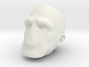 Morph One:12 Head #3 in White Natural Versatile Plastic: 1:12