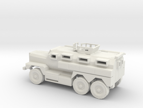 1/87 Scale MRAP Cougar 6x6 With Turret in White Natural Versatile Plastic