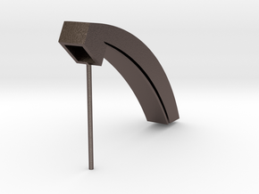 pipe mullion in Polished Bronzed-Silver Steel: Medium