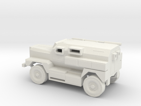 1/87 Scale MRAP Cougar 4x4 in White Natural Versatile Plastic