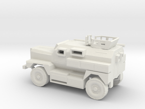 1/87 Scale MRAP Cougar 4x4 With Turret in White Natural Versatile Plastic