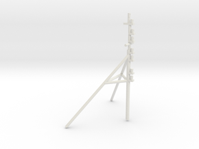 UT 704 bow mast (1:50) in White Natural Versatile Plastic