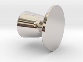 Door knob in 1:6 scale in Rhodium Plated Brass