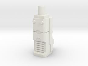 TF CW Stunticon Car Cannon Adapter in White Natural Versatile Plastic