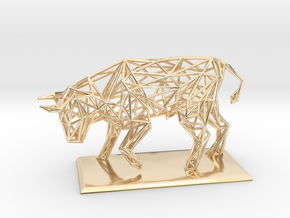 Bull in 14k Gold Plated Brass