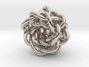 B&G Knot 20 in Rhodium Plated Brass