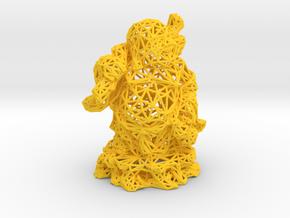 Laughing Buddha in Yellow Processed Versatile Plastic