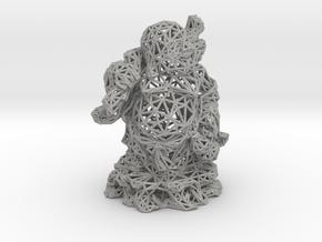 Laughing Buddha in Aluminum