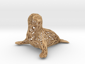 Baby seal in Natural Bronze