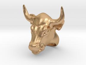 Bull ring in Natural Bronze