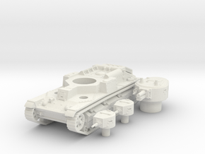T 28 (early) (hollow) scale 1/100 in White Natural Versatile Plastic