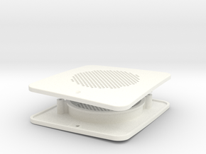 fpi002-01 Ford Pinto Runabout Rear Speaker Grill in White Processed Versatile Plastic