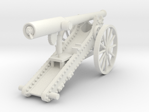 Boer War Long Tom (20mm - 1:72) in White Natural Versatile Plastic