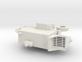 1/50th Concrete Pump Trailer in White Natural Versatile Plastic