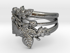 Figuier Triple anneau Ring Size 9 in Polished Silver: 6.5 / 52.75