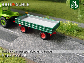 Agricultural trailer (N 1:160) in Smooth Fine Detail Plastic