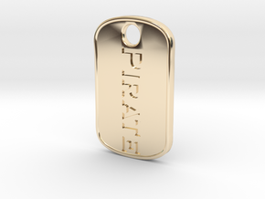 Pirate military tag [pendant] in 14K Yellow Gold