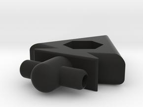 Arrowhead Pendant in Black Natural Versatile Plastic