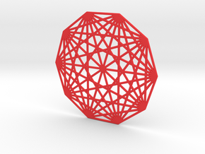 10 node complete graph ornament flat in Red Processed Versatile Plastic