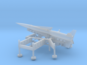 1/87 Scale Nike Missile and Launch Pad in Smooth Fine Detail Plastic