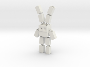 Space Bunny Robot in White Natural Versatile Plastic