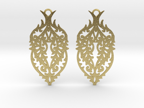 Thorn earrings in Natural Brass: Small