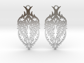 Thorn earrings in Natural Silver: Small