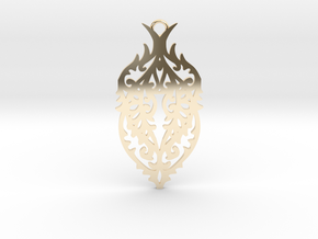 Thorn pendant in 14k Gold Plated Brass: Large