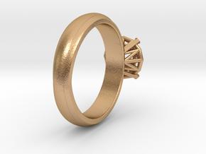 Frame diamond Ring in Natural Bronze: 6 / 51.5